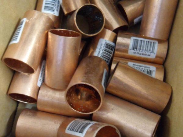Copper plumbing couplers