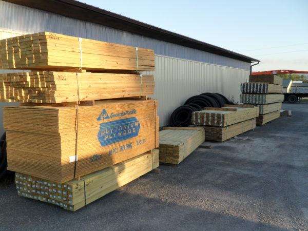 Packs of Construction Lumber
